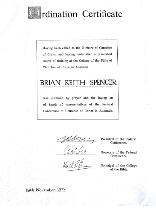 ordination-certificate